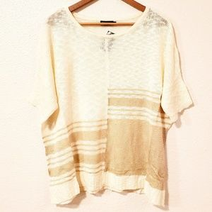 🌞5/$25 C.O.C. Open Knit Short Sleeves Sweater